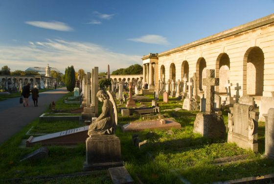 Colonnades in Brompton Cemetery