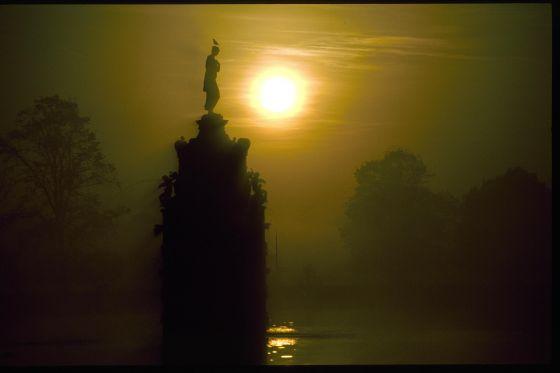 Winter Sunset behind Diana Fountain