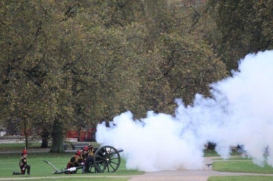 Firing the Royal Gun Salute