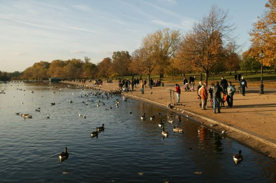 The Serpentine on a sunny day