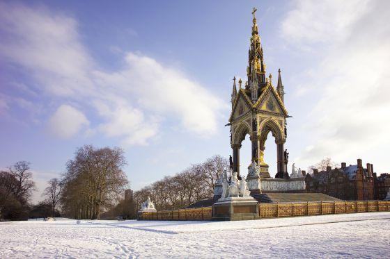 Albert Memorial in winter