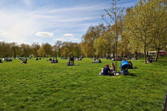 People in The Green Park