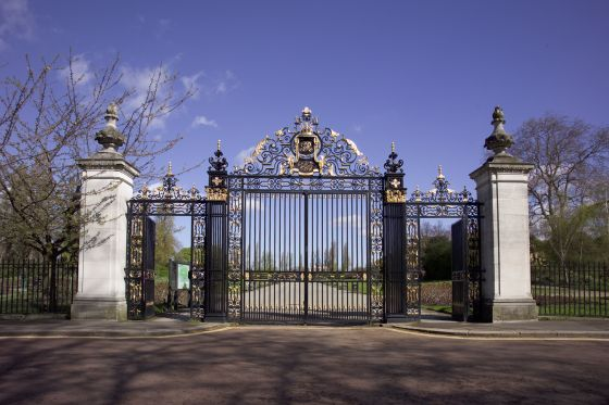Front facing view of Jubilee Gates